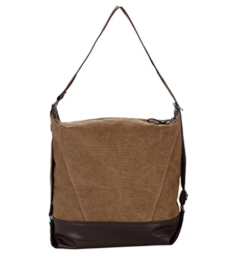Super moderno tela borsa a tracolla Laptop Bag Hobo Bag borsa tracolla casual Messenger Bag Top-handle Borsa weekener, Uomo donna, Brown Brown