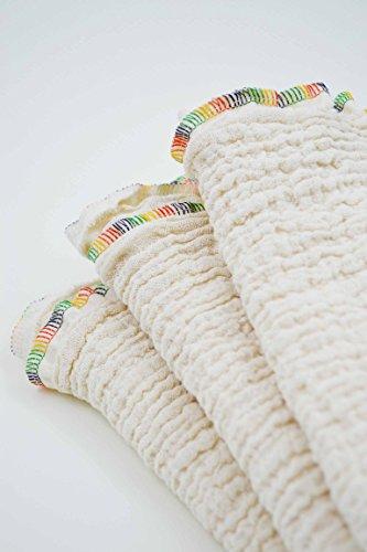 Mulltuch aus Bio-Baumwolle, Halstuch, Spucktuch, Stoffwindel, Babys, Frühchen, Kinder, Musselin, Mädchen, Junge creme, beige, natur