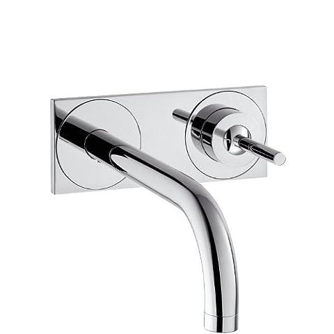 Axor Uno Einhebel-Waschtischmischer Unterputz, Komfort-Auslauf 225mm, Wandmontage,
