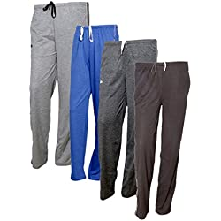 IndiWeaves Women's Premium Cotton Lower with 1 Zipper Pocket and 1 Open Pocket(Pack of 4)_Grey::Grey::Brown::Brown-40