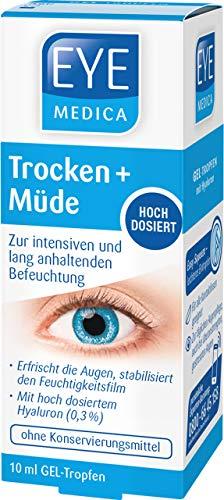EyeMedica Trockene Müde Augen Geltropfen zur intensiven Befeuchtung der Augen