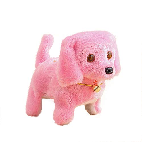 Jonerytime_ Education Women's Toy New Robotic Cute Electronic Walking Pet Dog Puppy Toy with Music Light Product Size: 15 * 9 * 13.5cm Pink