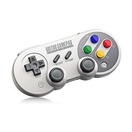 8Bitdo, Gamepad Wireless Bluetooth Controller SF30 Pro USB-Kabel, Unterstützt für Windows, Mac OS, Steam, Android, Nintendo Switch, Kabellos/Kabelverbindung