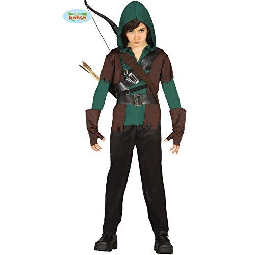 Braun Halloween Ideen Kostüm (Kostüm Bogenschütze Waldläufer 7-9)