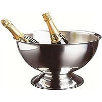 Util Home 4615260 - Cubitera para champán en Acero Inoxidable Gris 40cm