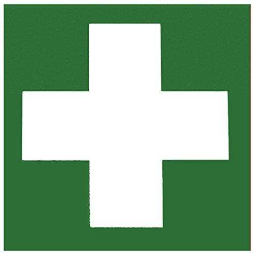 Metafranc Hinweisschild Symbol: Verbandskasten - 150 x 150 mm, nachleuchtend/Beschilderung/Verbandskasten/Erste-Hilfe-Kennzeichnung/Sicherheitsmarkierung/Gewerbekennzeichnung/503850