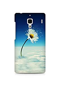 Amez designer printed 3d premium high quality back case cover for Xiaomi Redmi 1S (Flower on cloude creative)