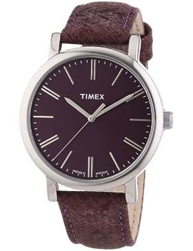 Timex Unisex-Armbanduhr Timex Style Originals Classic Round Analog Quarz Leder T2P172