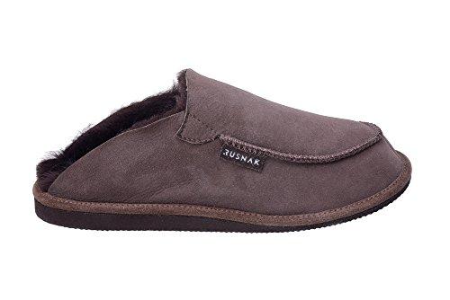 Calde Pantofole Con Fodera In Lana di Pecora Unisex per Uomo e Donna Marrone