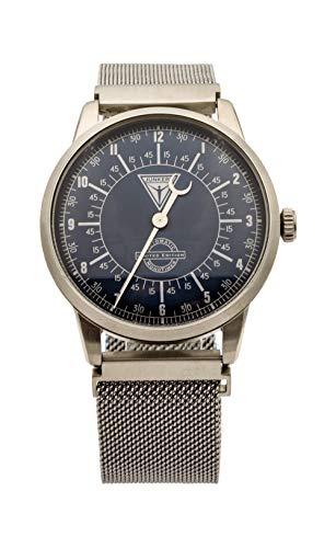 Junkers 6362-5 - Reloj automático para Hombre, Correa de Plata milanesa, Fabricado en Alemania