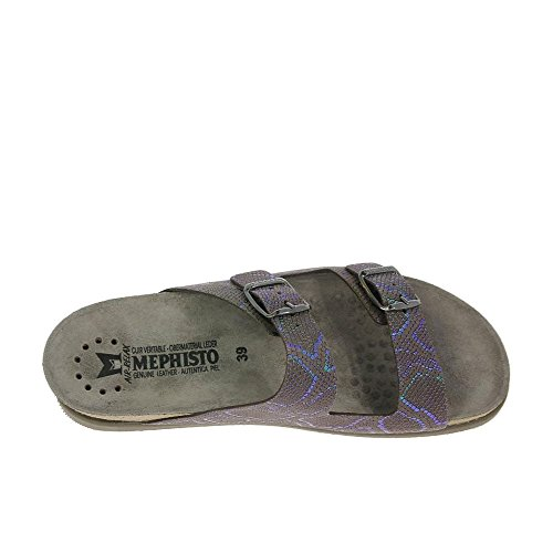 Mephisto Womens Harmony Leather Sandals marron foncé