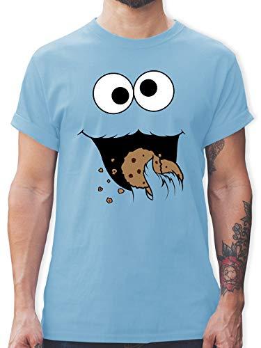 Karneval & Fasching - Keks-Monster - XXL - Hellblau - L190 - Herren T-Shirt und Männer Tshirt
