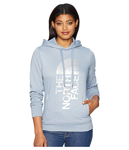 The North Face Women's's Trivert Pullover Hoodie - Gull Blue Heather & Silver Foil - XL