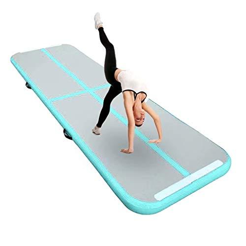 """Aufblasbar Gymnastik Tumbling Matte Air Track Weichbodenmatte für Zuhause, Cheerleading, Strand, Park und Wasser-inklusive Steuer (118\""""x39\"""",Green)"""