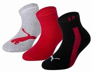 Puma Lifestyle - Chaussettes de Sport - Lot de 3 - Graphique - Mixte Enfant - Noir/Gris/Rouge - 35-38 EU (B003WIZF52) | Amazon Products