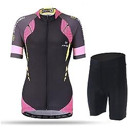 Pinjeer 2018 Verano de Las Mujeres Transpirable Ciclismo Jersey Ropa al Aire Libre Equipo de Deportes MTB Bicycle Riding Secado rápido Jersey Mujeres Conjuntos Cortos