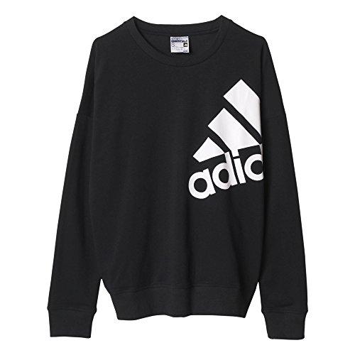 Adidas Essentials Sweat-shirt pour femme avec logo Noir - Noir/Blanc