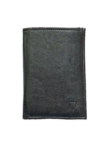 Grand portefeuille très pratique avec 4 volets - 20 emplacements pour cartes - Papier voiture et identité - Cuir synthétique souple de qualité - homme ou femme