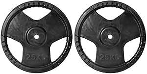Physique Rubber Grip Regular Plates, 2 x 25Kg