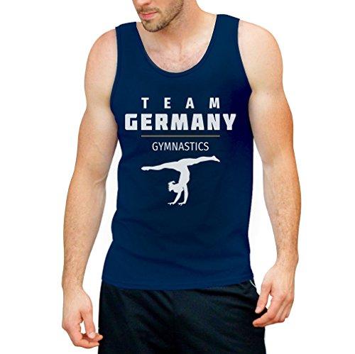 Sportgymnastik Turnen Team Germany - Rio Fanshirt Tank Top Blau