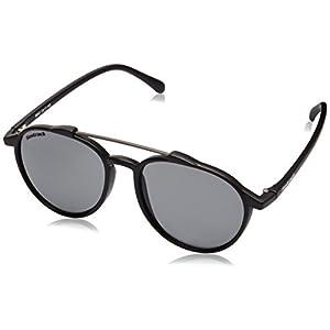 Fastrack UV Protected Oval Men's Sunglasses - (C067BK1 52 Smoke (Grey / Black) Color)