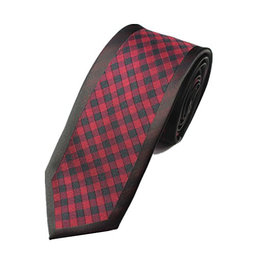 Z-P Mens Retro Red Lattice Luxury Microfiber Necktie Knit Polyester Skinny Tie (Satin Weste Formale Tuxedo Weiß)