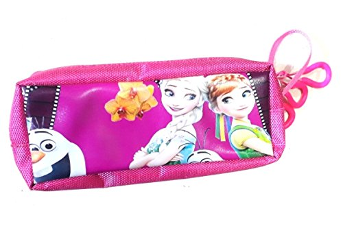 Frozen pen pouch for girls pink colour 3 pocket  available at amazon for Rs.200