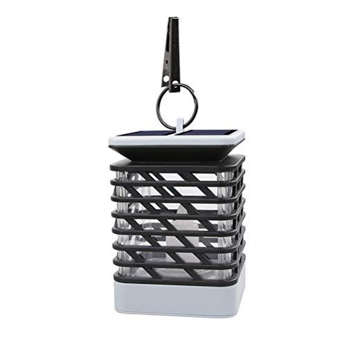 Uonlytech LED Solar Candle Light Hanging luce esterna impermeabile Solar Garden Light co