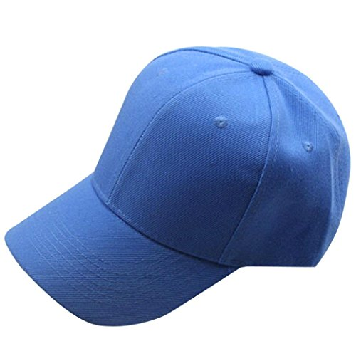 eballkappe Männer oder Frauen Baseball Cap Snapback Hut Hip-Hop einstellbar (Himmelblau) (Dallas Cowboy Stroh Hut)
