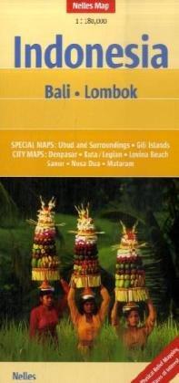 Indonesia : Bali, Lombok, 1/180 000
