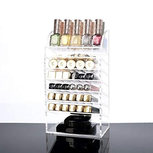 JINSH Home Transparente Lippenstift-Aufbewahrungsbox Lip Gloss-A
