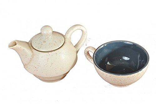 Silkoak The Classic Ceramic Cup-Kettle, 16X11X6, White