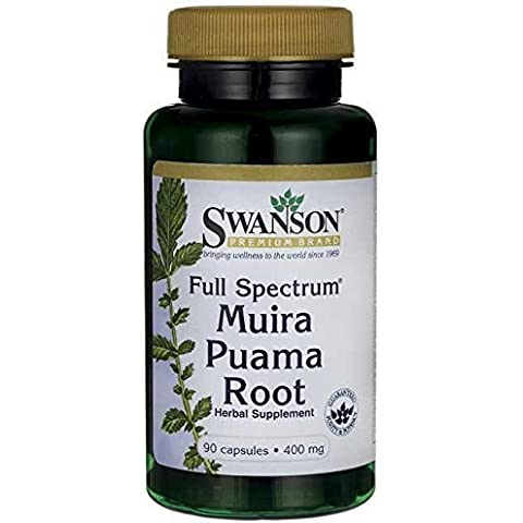 Full-Spectrum Muira Puama Root 400 mg 90 Caps Made in