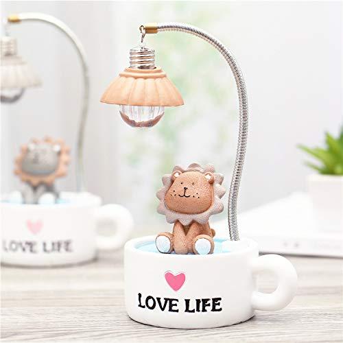 Neue europäische kreative cartoon cute sun lion nachtlicht harz desktop dekoration mädchen paar geschenk 12 * 8 * 20 cm