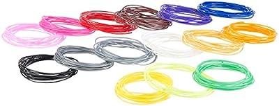 FreeSculpt ABS-Plastikbänder: 15-farbiges ABS-Filament-Set für 3D-Drucker-Stifte, je 3 m, Ø 1,75 mm (Filament auf Spule, Trommel, Band)