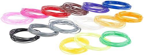 FreeSculpt ABS-Plastikbänder: 15-farbiges ABS-Filament-Set für 3D-Drucker-Stifte, je 3 m, Ø 1,75...