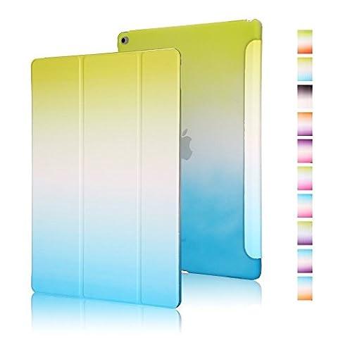 Highdas Leicht Ipad Hülle Farbe Rainbow-Serie Smart Schutzhülle Case Transparent Zurück Case Stand Case für ipad 2/ipad 3/ipad 4 mit eingebauten Magnet für Schlaf / Wach-Funktion Schutz (Leichtem Polycarbonat-rahmen)