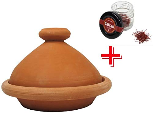 Tajine Marrakesch Marrakesch naturel Ø 26 cm + 1 g de fils de safran