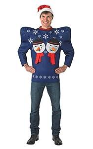 "Rubies Snowman Xmas 810330 Standard- Jersey, tamaño 36""-42"" de pecho"