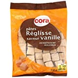 Cora pâtes reglisse vanillées 130g Envoi Rapide Et Soignée ( Prix Par Unité )