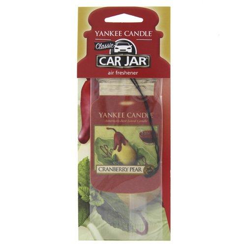 yankee candle Classic Car Jar Profumo Auto con Fragranza Mirtillo e Pera, Cartone, Rosso, 7.9x19.7x0.7 cm
