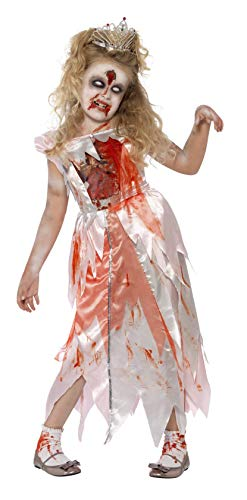 Zombie Prinzessin Kind Kostüm - Smiffys Kinder Zombie Dornröschen Kostüm, Kleid, Größe: S, 44283