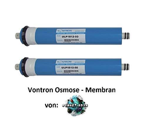 Planet-Aqua Membran 50 GPD 2 STÜCK bis 190 L/Tagesl. für Osmoseanlage und Umkehrosmose Osmose Filter Membrane gegen Kalk, Salze, Nitrat Bakterien Virenund Keime im Trinkwasser und Aquarium Wasser -
