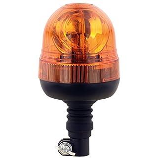 AdLuminis Halogen Rundumleuchte orange, Verschiedene Ausführungen, Blinkleuchte 12V 24V, ECE R65 Straßenverkehr Zulassung, KFZ Warnleuchte (e - groß mit flexiblem Fuß)