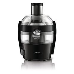 Philips HR1832/00 Viva Collection Entsafter 500 W, kompaktes Design, 1,5 L in einem Durchgang, schnelle Reinigung, schwarz
