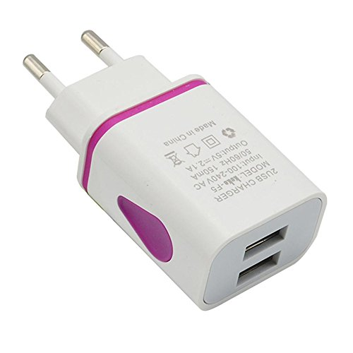 Xshuai New LED USB 2-Port-Wand-Wechselstrom-Ladegerät-Adapter Typ C USB-Ladekabel Für Smartphone (Lila) - Wechselstrom-wand-ladegerät-adapter