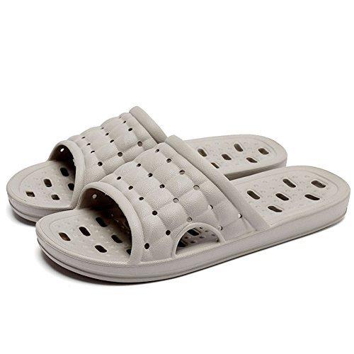 Uomini e donne pantofole antiscivolo sandali da bagno massaggio grigio eu 43-44