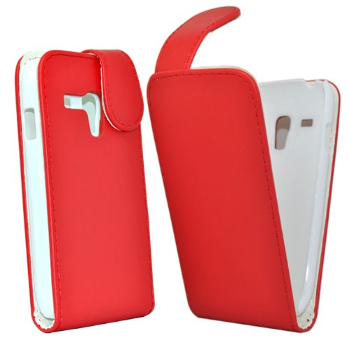 Accessory Master Leder Shell für Samsung Galaxy S3 mini rot