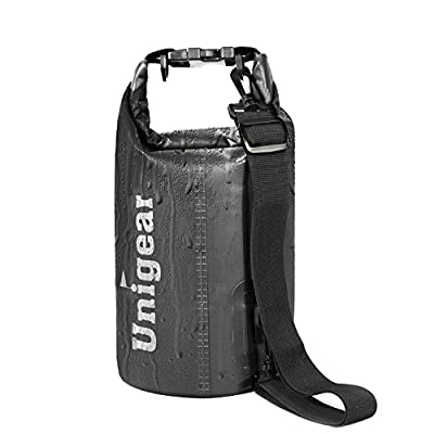 Unigear 2L/5L/10L/20L/30L/40L 600D Dry Bag Sack with Waterproof Phone Case and Long Adjustable Shoulder Strap for Boating, Kayaking, Fishing, Rafting, Swimming, Camping and Snowboarding by Unigear