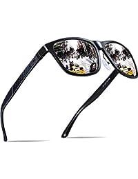 b2fe7c300856 ATTCL Hombre Gafas de sol Polarizado Al-Mg Metal Super Ligero Marco